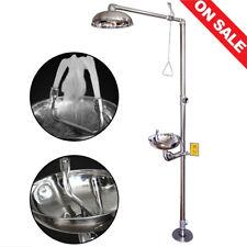 New listing Stainless Steel Emergency Eyewash Shower Station Emergency Shower System Eye