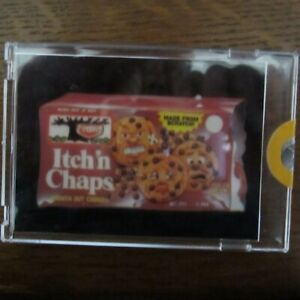 1985 Series Topps WACKY PACKAGES Proof Card ITCH 'N CHAPS COOKIES Vault Rare