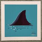 Jaws Steven Spielberg Shark Fin Horror Movie Art Print Poster Mondo Tom Whalen