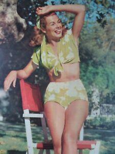 Hollywood 1940s Print Pin Up Rare Portrait Photo Original Barbara Hale Bikini