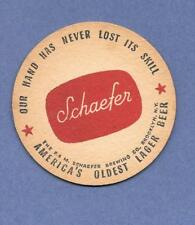 Schaefer -America's Oldest Beer- 12 vintage coasters-Never Lost its Skill