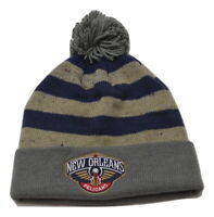 Mitchell & Ness New Orleans Pelicans NBA Basketball Knit Pom Winter Hat Beanie