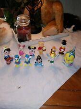 Vintage Lot Of (11) Walt Disney Ceramic/porcelain Figurines Made In Japan