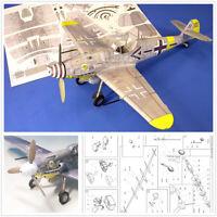 New DIY 1/32 WWII German Messerschmitt Bf-109 G6/G14 Fighter 3D Paper Model Kit