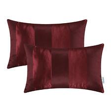 """2Pcs Pillow Case Cushion Cover Home Sofa Decor Stripes Geometric Jacquard 12x20"""""""