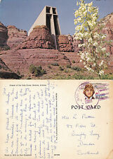 1981 CHAPEL OF THE HOLY CROSS SEDONA ARIZONA UNITED STATES COLOUR POSTCARD
