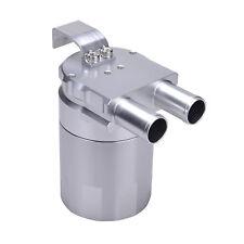 Billet Aluminum Oil Catch Can Reservoir Baffled fits BMW N54 335i 535i Silver