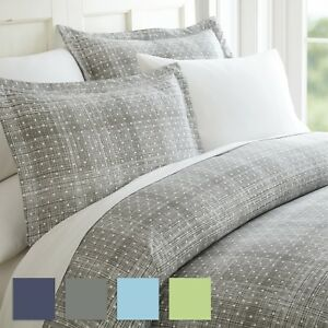 Polka Dot Patterned 3 Piece Duvet Cover Set - Hotel Collection by iEnjoy home