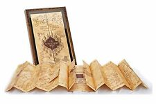 Harry Potter Parchment Marauders Map With Display Case Noble Replica Hogwarts