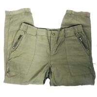 Simply Vera Wang Womens Size 8 Pants Cropped Olive Green joggers ankle