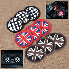 9pc fit for Mini R55 R56 R57 R58 R59 Anti-Slip Cup Mat Pad Union Jack Flag Chess