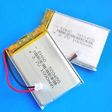 2 pcs 3.7V 1000mAh Li Po Rechargeable Battery 503450 JST 1.5mm for MP4 Speaker