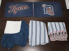 DETROIT TIGERS Bedding Set TWIN Flat Fitted Sheets Pillow Case Skirt Dan River