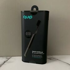 Quip Electronic ToothBrush  Special Edition All Black Metal With Refill Brush