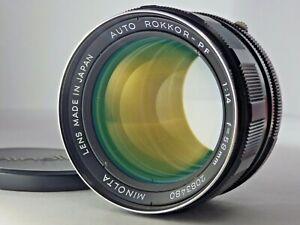 Minolta Auto Rokkor PF 58mm f/1.4 Manual Focus Lens from Japan JP SLR MF [Exc!!]