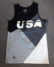 10 Deep USA Black Jersey Vest top Size L brand new