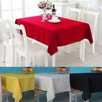 Tablecloth Table Cover Cloth Polyester Banquet Wedding Party Home Decor 110x60cm
