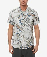 Jack O'Neill Mens Shirt Fog Gray Size XL Button Down Floral Printed $65 #520