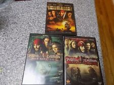 Pirates Of The Caribbean Dvd Lot 3 movies