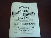 1881 REPRINT ATLAS MAPS OF HANCOCK COUNTY, MAINE US COAST SURVEY CHARTS PAMPHLET