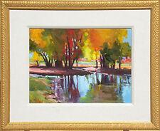 "Christine Smith ""Hudson Garden Reflections"" Original Oil Painting Colorado art"