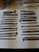 Vintage Craftool Co.-Usa 26 Pc Leather Stamps w/rack + Bonus Swivel knife blade