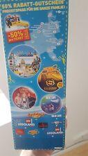 50% Rabatt Gutschein 5 Pers Legoland Sealife Heide Park Gardaland bis 31.05.2020