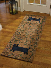 "Folk Cat Hooked Rug Runner by Park Designs - 24"" x 72"""