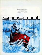 RARE 1966 Robin-Nodwell Snoscoot Snowmobile Sales Brochure