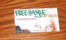 Freestyle 1st Anniversary Party VIP Pass Card Handbill Promo  3.5x2