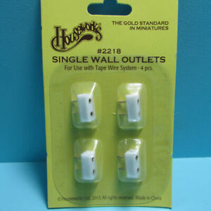 Dollhouse Miniature Houseworks 12v Electric Wall Outlet Pack of 4 HW2218
