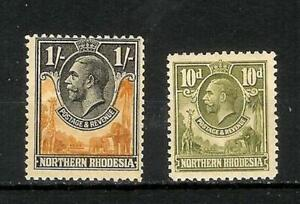 NORTHERN   RHODESIA   GEORGE   V   SELECTION   MH*