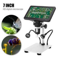 1200X HD Digital Mikroskop 7 Zoll LCD Farbbildschirm 12MP Lupe mit Halterung