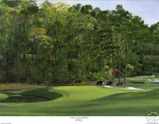 "Augusta National Golf Club  Amen 11 ""White Dogwood""  giclee print- Lim.Ed. 16x20"
