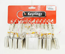 12 units Mini Stainless Steel Hip Flask 1oz KEY RINGS  Wedding Favours Flasks