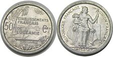 elf French Oceania 50 Centimes 1949 Island Outrigger