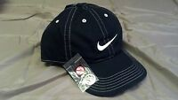 2 NEW NIKE GOLF HATS WITH MAGNETIC BALL MARKERS - BLACK