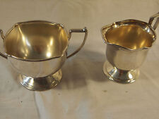 Bernard Rice Sons Apollo EPNS Creamer + Sugar Bowl