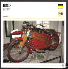 1924 Hoco 142cc DKW D.K.W. German Bike Motorcycle Photo Spec Sheet Info Card
