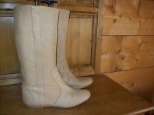 bottes courtes cuir camel . taille 39 .(26/V/G)
