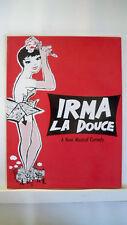 IRMA LA DOUCE Souvenir Program TAINA ELG / DENIS QUILLEY / JOSEPH BOVA Tour 1962