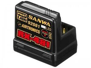 NIB Sanwa RX-481 Receiver 4 channel 2.4GHz Free Ship