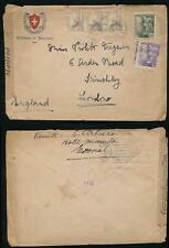 SPAIN WW2 1941 ENVELOPE HOTEL MIRANDA + SUIZO...MADRID CENSOR TAPE