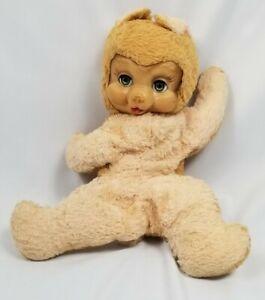 "Ideal Toys - Algy Toy  Rubber Face Sleepy Eyed Teddy Bear Plush Vintage 17"""