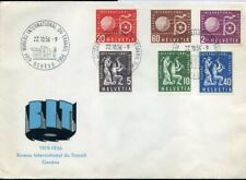 416558) Schweiz BIT/ILO FDC Nr. 94-99 auf Schmuckumschlag 1956, 75,-