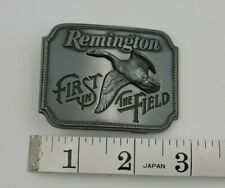 REMINGTON FIRST IN THE FIELD CANADA GOOSE PEWTER BELT BUCKLE 1980