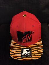 Starter MTV Snapback Black/Grey Retro Logo Flat Cap