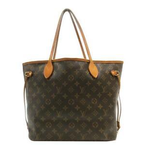 LOUIS VUITTON Neverfull MM Monogram Canvas Brown Shoulder Tote Bag M40156