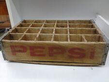COLORADO SPRINGS VINTAGE PEPSI SODA POP WOOD BOX WOODEN CRATE WITH STEEL CORNERS