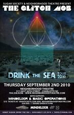 """GLITCH MOB/MINDELIXIR """"DRINK THE SEA TOUR 2010""""CHARLOTTE CONCERT POSTER-Synthpop"""